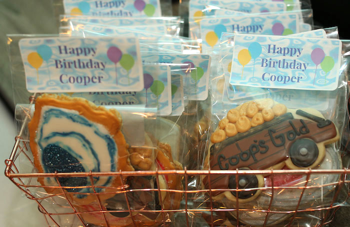 Cookie Favors from a Gem Mining Birthday Party on Kara's Party Ideas | KarasPartyIdeas.com (19)