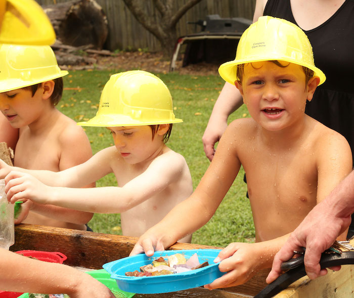 Panning for Gold from a Gem Mining Birthday Party on Kara's Party Ideas | KarasPartyIdeas.com (4)