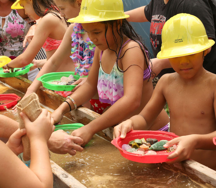 Panning for Gold from a Gem Mining Birthday Party on Kara's Party Ideas | KarasPartyIdeas.com (3)