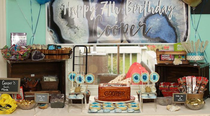 Gem Mining Birthday Party on Kara's Party Ideas | KarasPartyIdeas.com (29)
