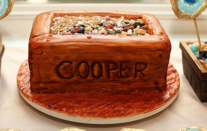 Mining-inspired Birthday Cake from a Gem Mining Birthday Party on Kara's Party Ideas | KarasPartyIdeas.com (25)