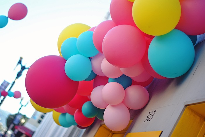 Carnival Balloon Garland from a Girly Carnival Birthday Party on Kara's Party Ideas | KarasPartyIdeas.com (9)