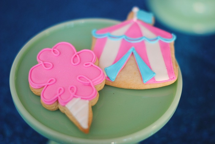 Carnival Cookies from a Girly Carnival Birthday Party on Kara's Party Ideas | KarasPartyIdeas.com (20)