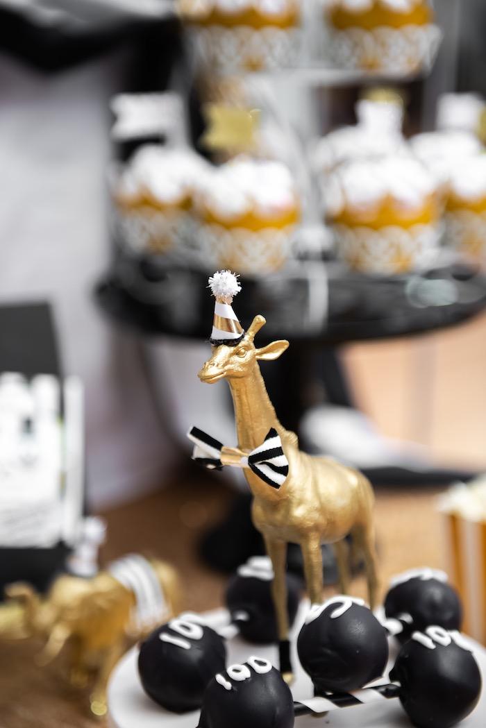Mono Gold Giraffe Prop from a Golden Circus Birthday Party on Kara's Party Ideas | KarasPartyIdeas.com (18)