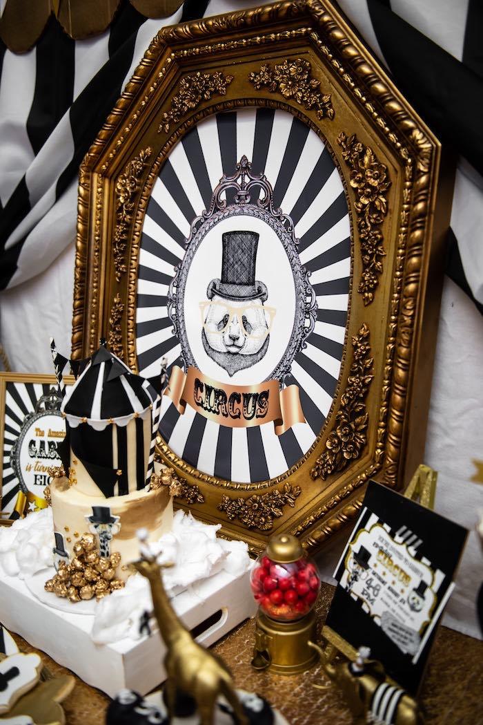Golden Circus Birthday Party on Kara's Party Ideas | KarasPartyIdeas.com (12)
