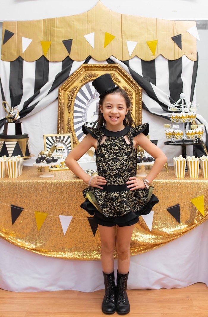 Golden Circus Birthday Party on Kara's Party Ideas | KarasPartyIdeas.com (8)