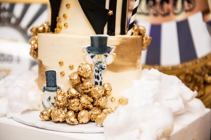 Glam Circus Cake from a Golden Circus Birthday Party on Kara's Party Ideas | KarasPartyIdeas.com (24)