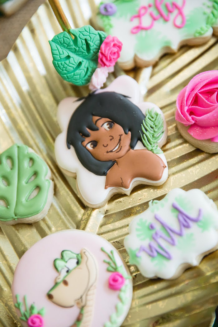Mowgli + Jungle Book Cookies from a Jungle Book Party Made for a Princess on Kara's Party Ideas | KarasPartyIdeas.com (46)