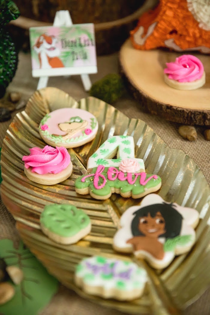 Jungle Book Cookies from a Jungle Book Party Made for a Princess on Kara's Party Ideas | KarasPartyIdeas.com (45)