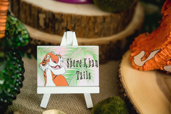 Shere Kan Pretzel Tail Label from a Jungle Book Party Made for a Princess on Kara's Party Ideas | KarasPartyIdeas.com (44)