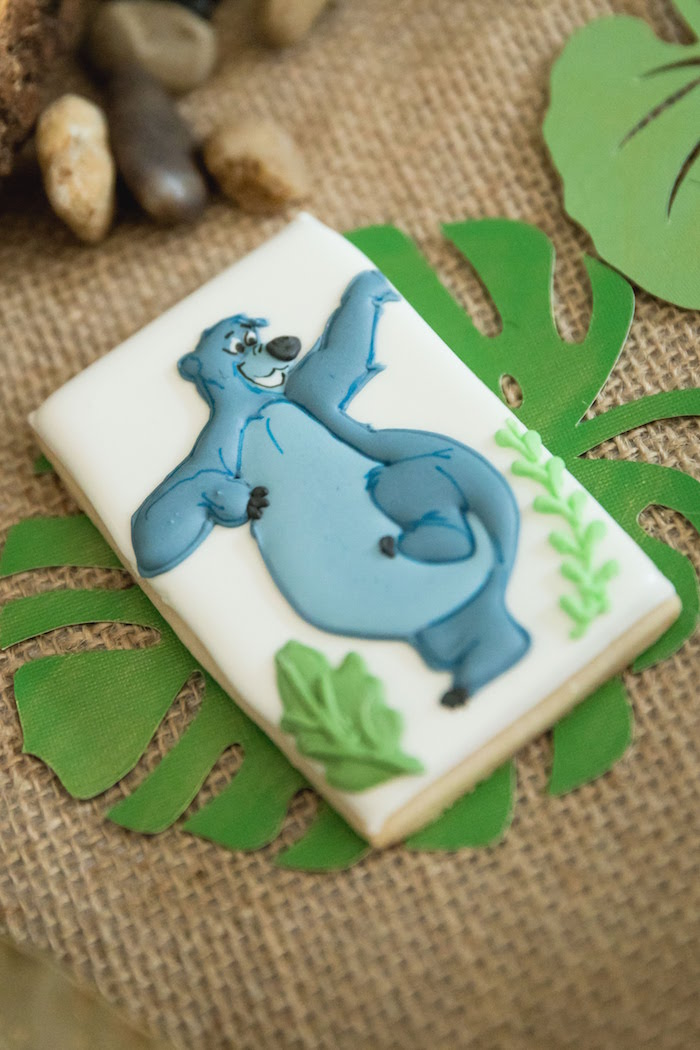 Baloo the Bear Cookie from a Jungle Book Party Made for a Princess on Kara's Party Ideas | KarasPartyIdeas.com (42)