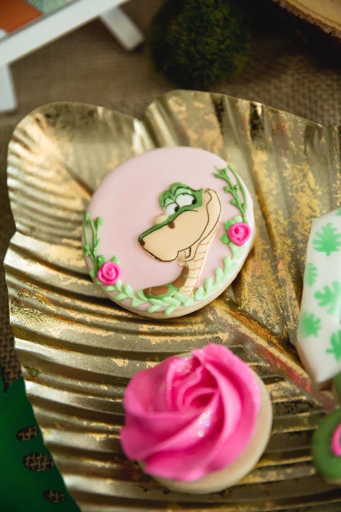 Kaa Cookie from a Jungle Book Party Made for a Princess on Kara's Party Ideas | KarasPartyIdeas.com (41)