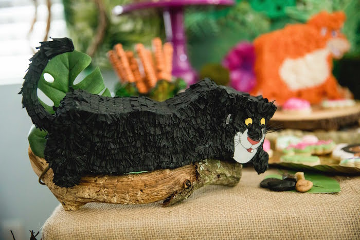 Mini Bagheera Pinata from a Jungle Book Party Made for a Princess on Kara's Party Ideas | KarasPartyIdeas.com (40)
