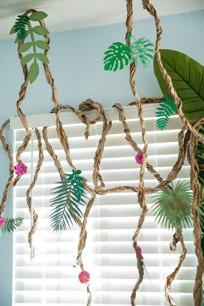 Paper Vine Garland from a Jungle Book Party Made for a Princess on Kara's Party Ideas | KarasPartyIdeas.com (39)