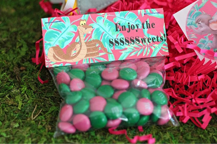 Jungle Book Candy Favor Bag from a Jungle Book Party Made for a Princess on Kara's Party Ideas | KarasPartyIdeas.com (55)