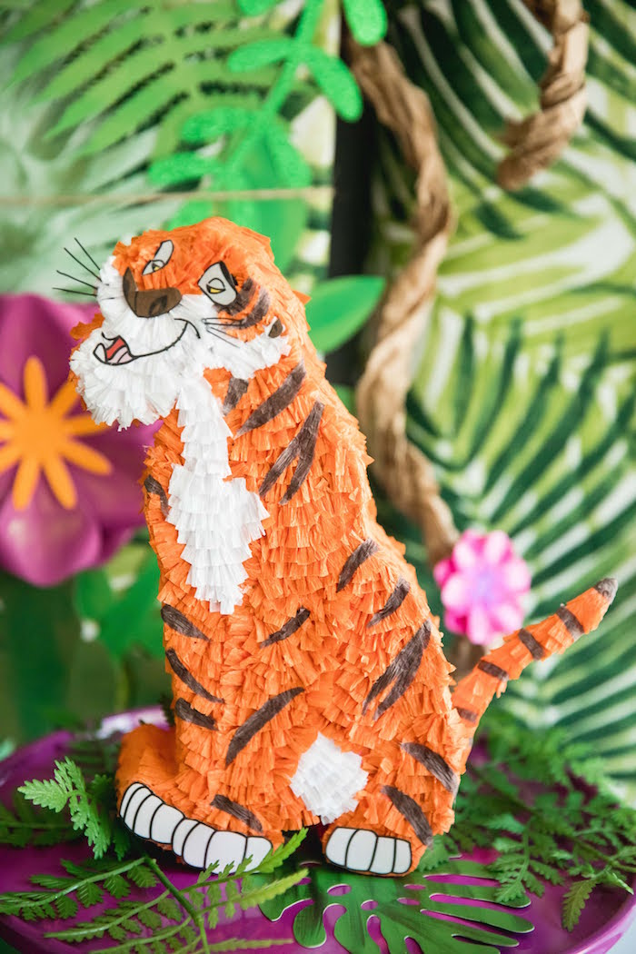 Mini Shere Khan Pinata from a Jungle Book Party Made for a Princess on Kara's Party Ideas | KarasPartyIdeas.com (35)