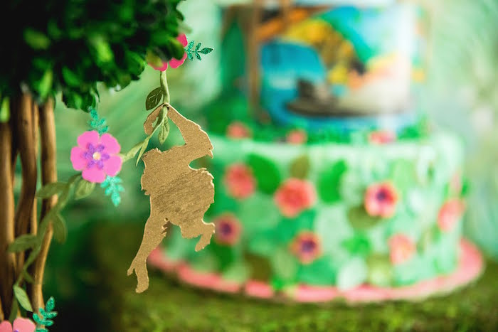 Jungle Tree & Monkey Table Centerpiece from a Jungle Book Party Made for a Princess on Kara's Party Ideas | KarasPartyIdeas.com (34)