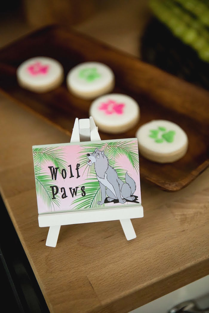 Wolf Paw Cookie Label + Signage from a Jungle Book Party Made for a Princess on Kara's Party Ideas | KarasPartyIdeas.com (30)