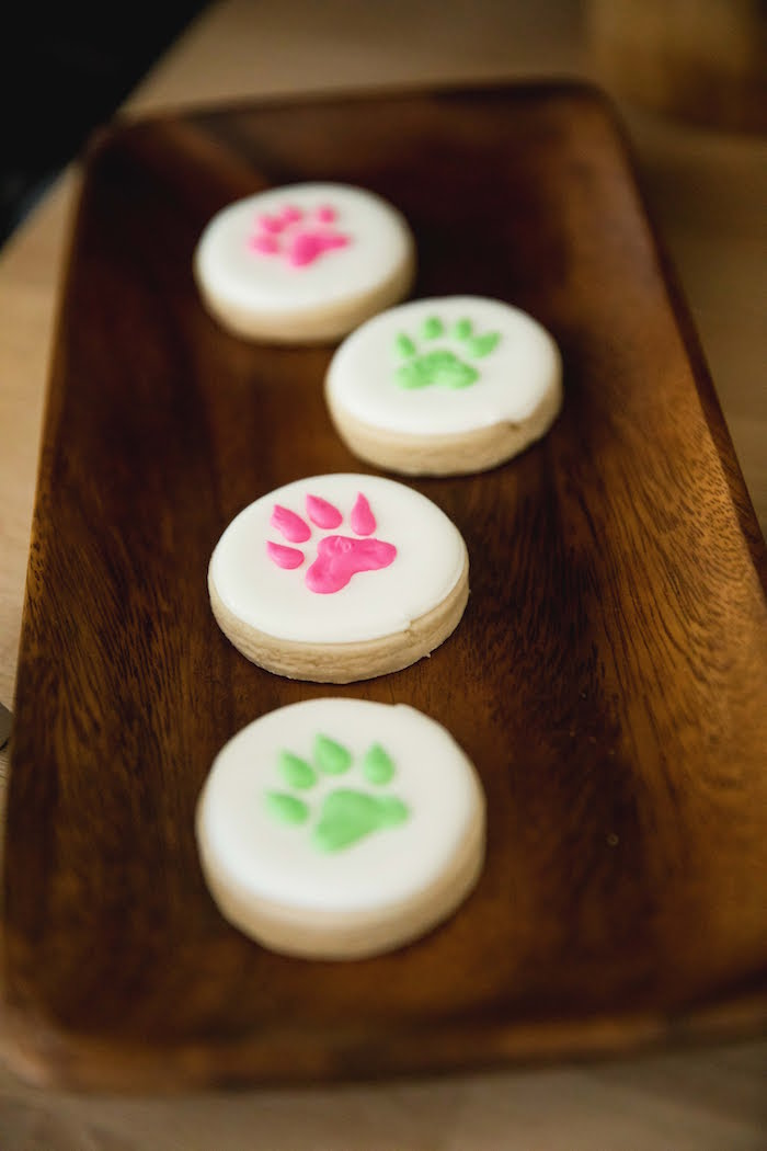 Wolf Paw Print Cookies from a Jungle Book Party Made for a Princess on Kara's Party Ideas | KarasPartyIdeas.com (29)