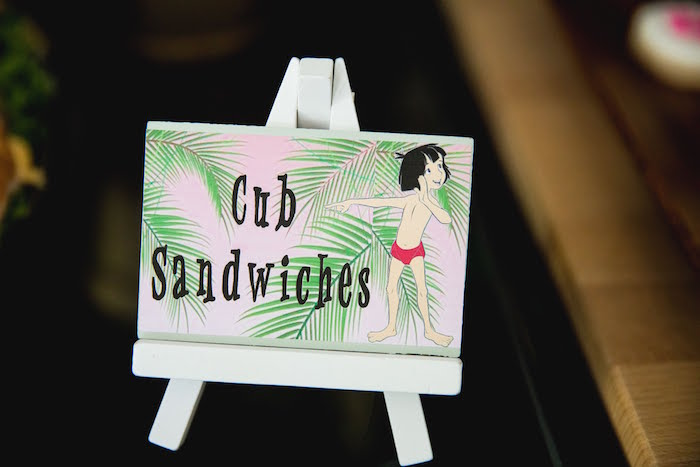 Cub Sandwiches + Jungle Book Party Food Label from a Jungle Book Party Made for a Princess on Kara's Party Ideas | KarasPartyIdeas.com (28)