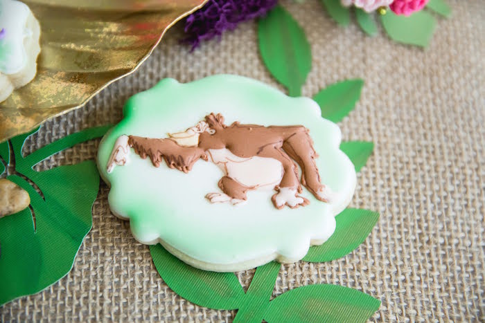 King Louie Cookie from a Jungle Book Party Made for a Princess on Kara's Party Ideas | KarasPartyIdeas.com (25)