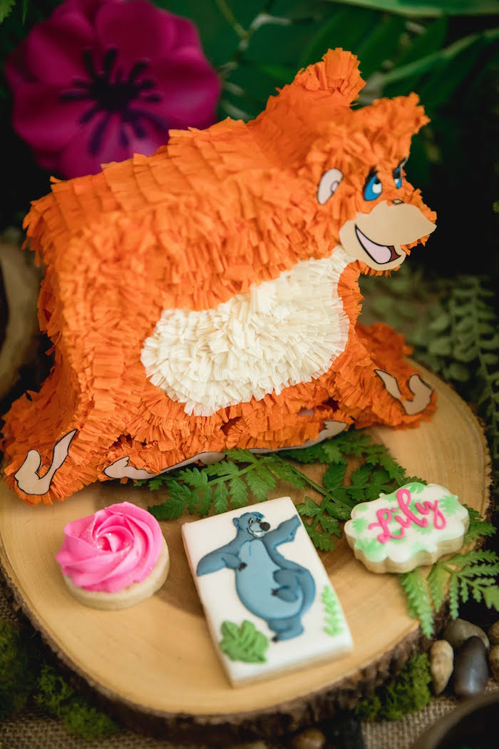 King Louie Pinata Dessert Pedestal from a Jungle Book Party Made for a Princess on Kara's Party Ideas | KarasPartyIdeas.com (22)