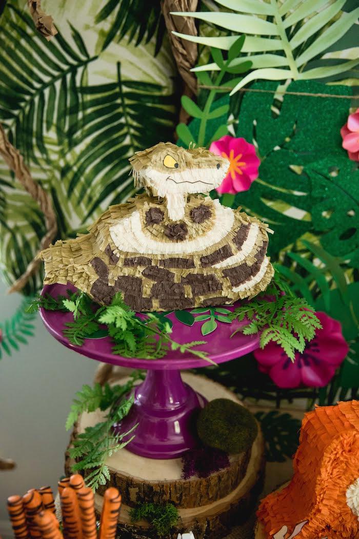 Mini Kaa Pinata from a Jungle Book Party Made for a Princess on Kara's Party Ideas | KarasPartyIdeas.com (21)