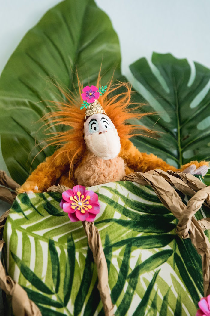 Plush King Louie from a Jungle Book Party Made for a Princess on Kara's Party Ideas | KarasPartyIdeas.com (18)
