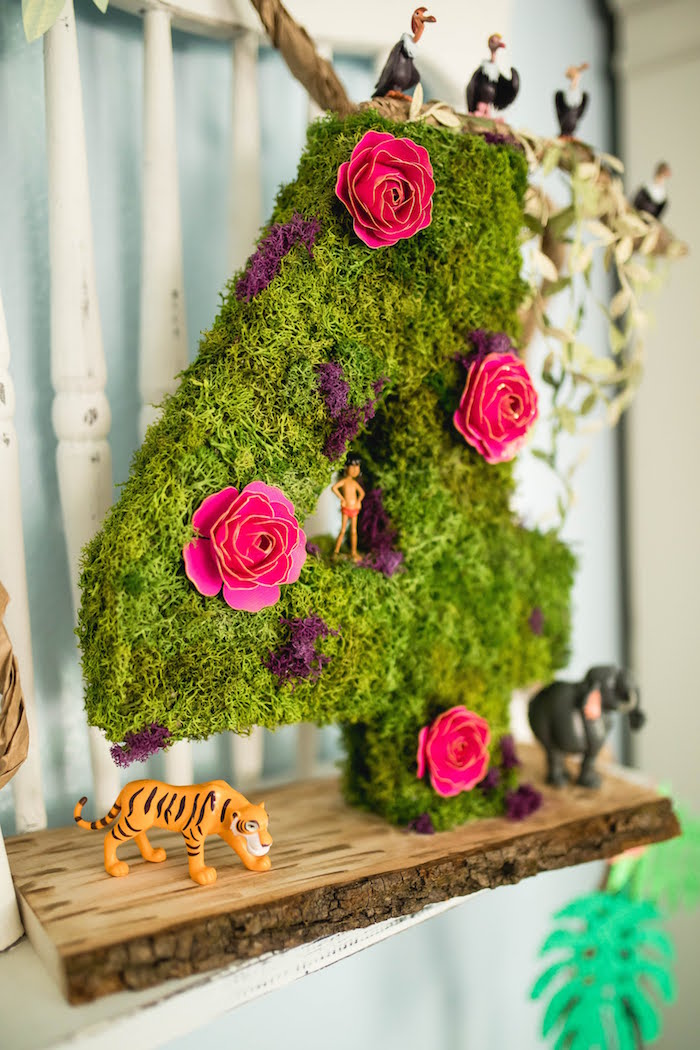 Jungle Moss Number from a Jungle Book Party Made for a Princess on Kara's Party Ideas | KarasPartyIdeas.com (53)