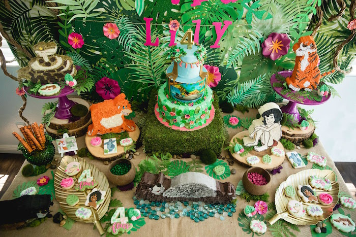 Jungle Book Dessert Table from a Jungle Book Party Made for a Princess on Kara's Party Ideas | KarasPartyIdeas.com (11)