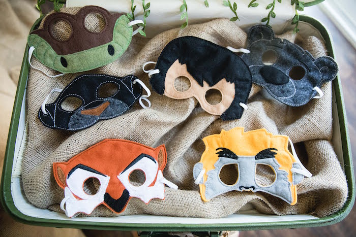 Jungle Book Felt Character Masks from a Jungle Book Party Made for a Princess on Kara's Party Ideas | KarasPartyIdeas.com (10)