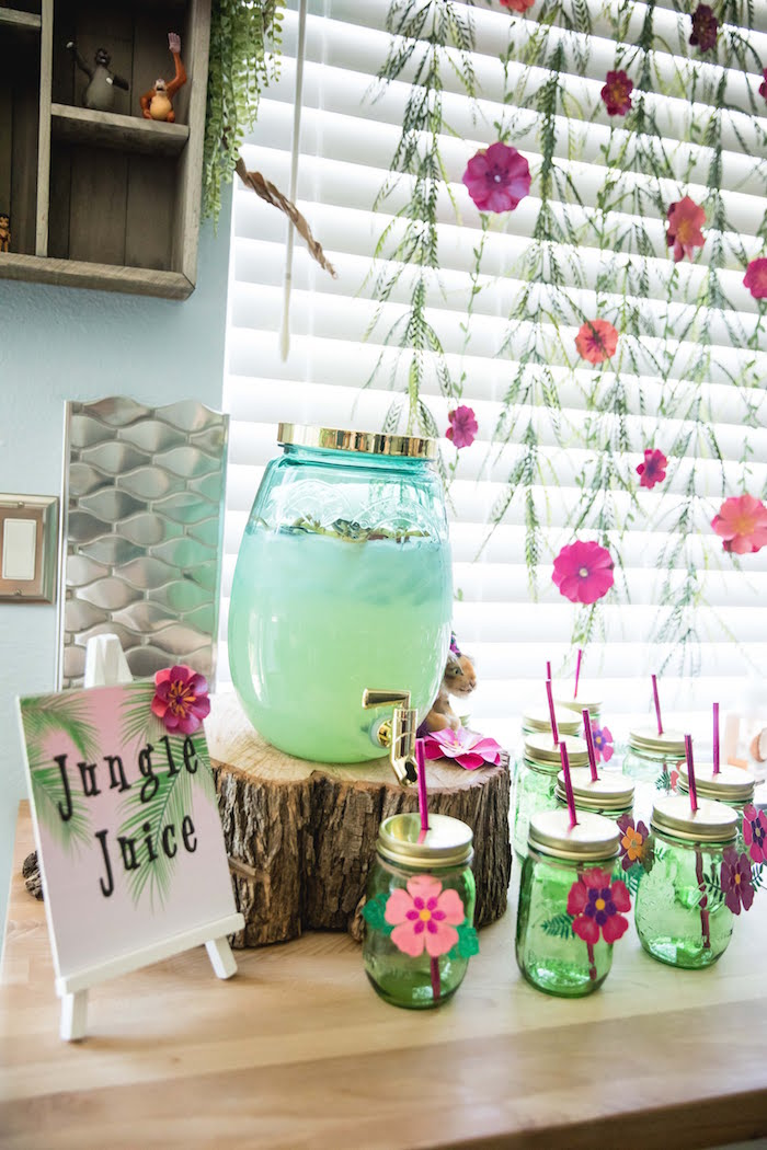Jungle Juice Bar from a Jungle Book Party Made for a Princess on Kara's Party Ideas | KarasPartyIdeas.com (7)