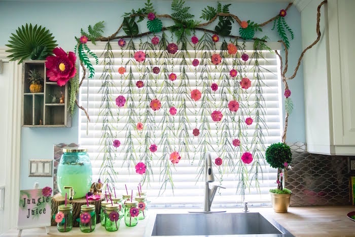 Jungle Juice Bar from a Jungle Book Party Made for a Princess on Kara's Party Ideas | KarasPartyIdeas.com (5)