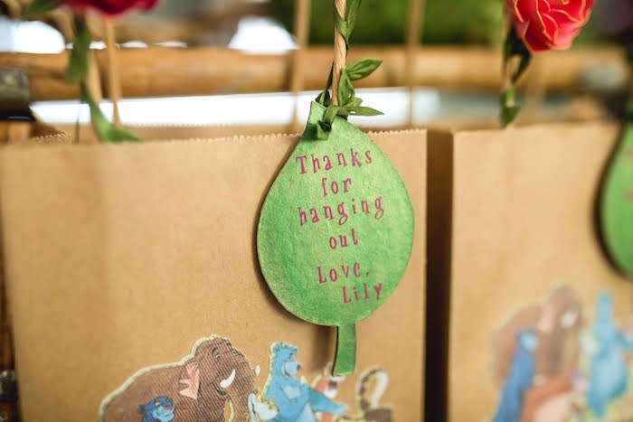 Leaf Favor Tag from a Jungle Book Party Made for a Princess on Kara's Party Ideas | KarasPartyIdeas.com (50)