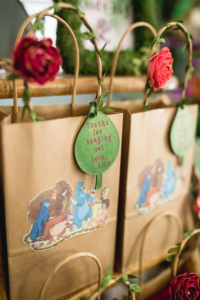 Jungle Book Favor Bags from a Jungle Book Party Made for a Princess on Kara's Party Ideas | KarasPartyIdeas.com (49)