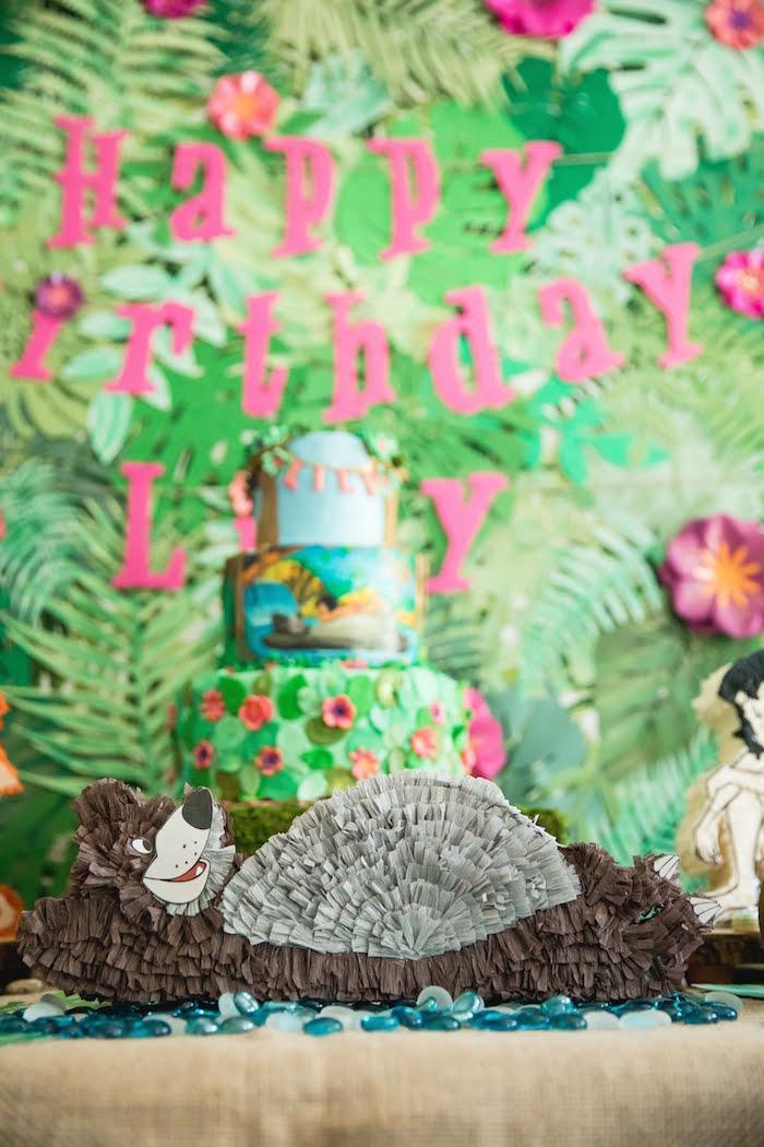 Baloo the Bear Pinata from a Jungle Book Party Made for a Princess on Kara's Party Ideas | KarasPartyIdeas.com (47)