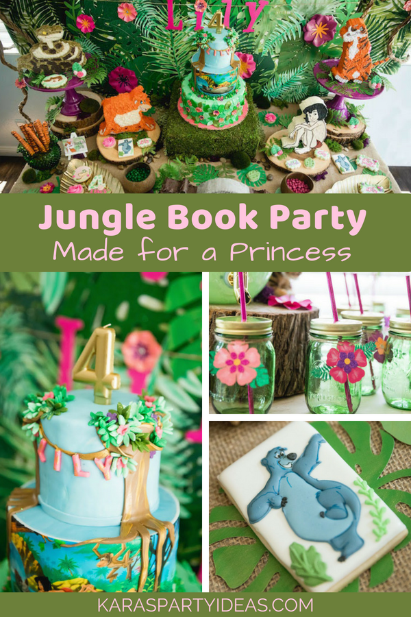 Jungle Book Party Made for a Princess via Kara's Party Ideas - KarasPartyIdeas.com