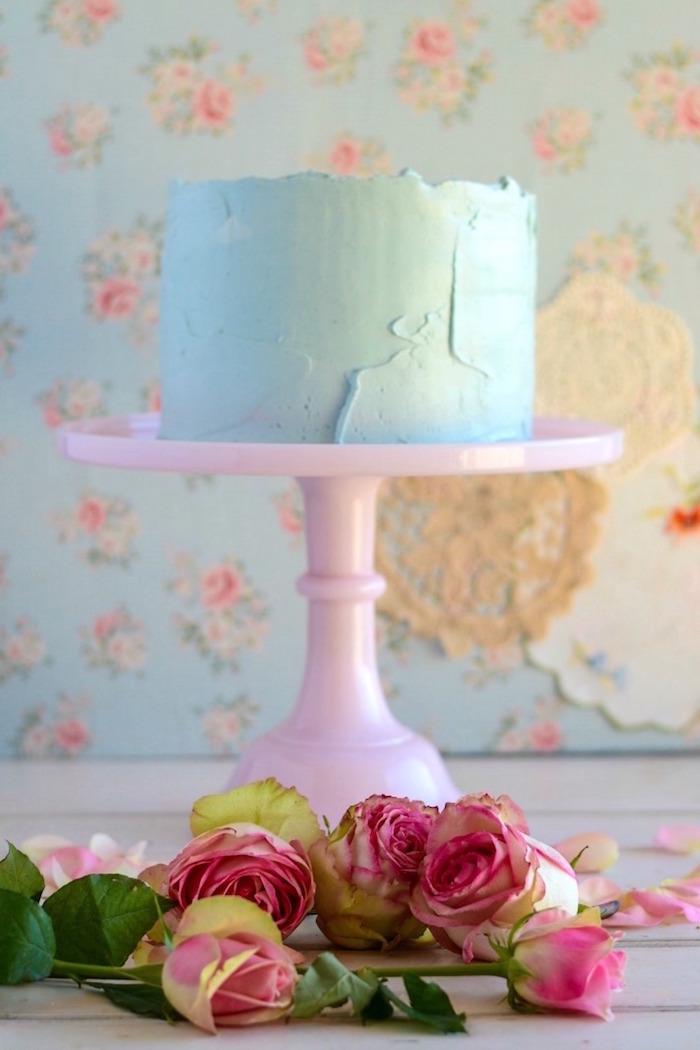 Lemon Coconut Cake with Raspberry Swiss Meringue Buttercream Recipe on Kara's Party Ideas | KarasPartyIdeas.com (13)