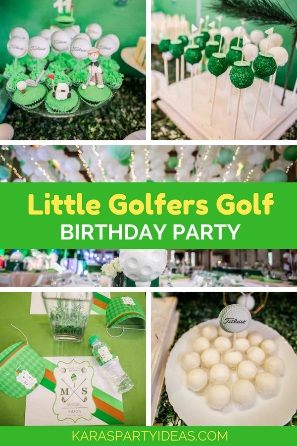 Little Golfers Golf Birthday Party via Kara's Party Ideas - KarasPartyIdeas.com