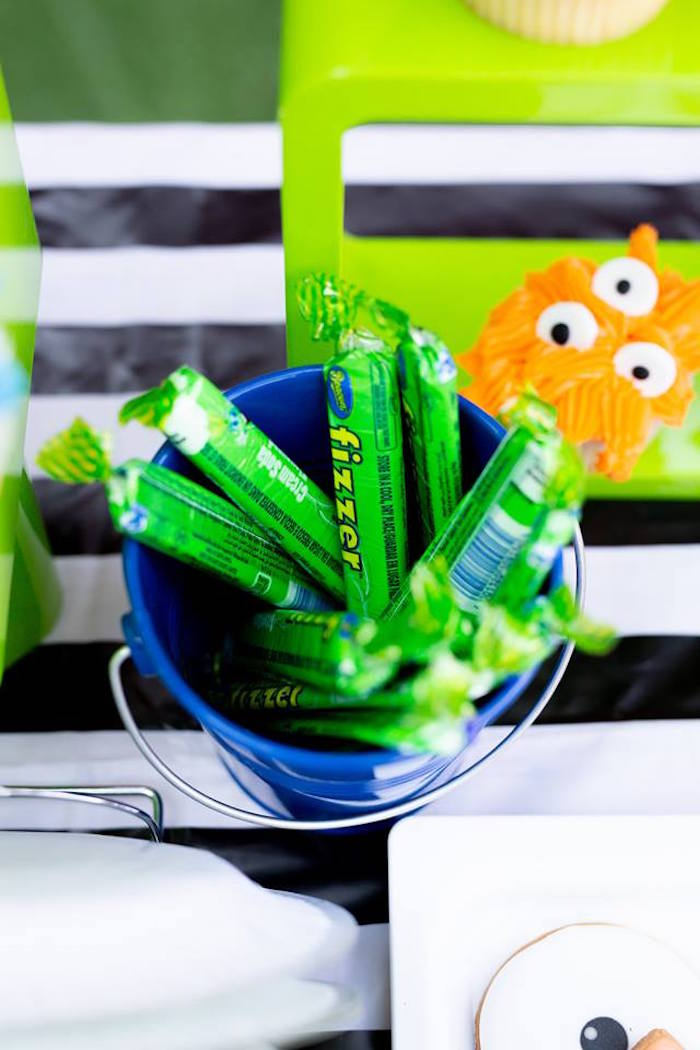 fizzer candy from a Little Monsters Birthday Party on Kara's Party Ideas | KarasPartyIdeas.com (25)