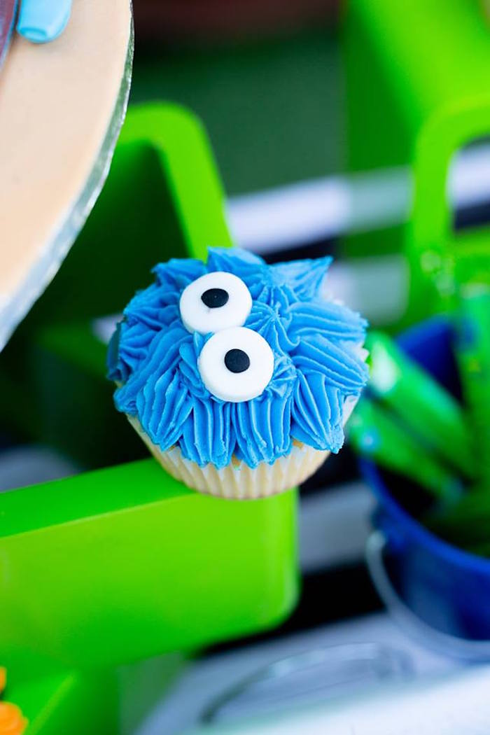 Monster Cupcake from a Little Monsters Birthday Party on Kara's Party Ideas | KarasPartyIdeas.com (22)