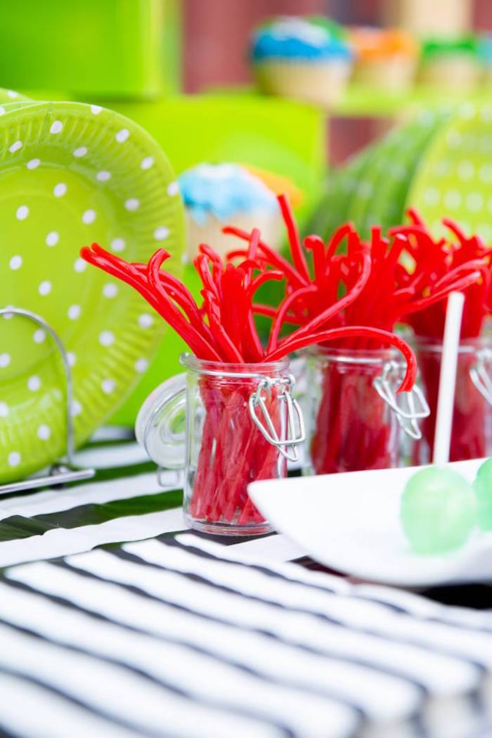 Monster Licorice from a Little Monsters Birthday Party on Kara's Party Ideas | KarasPartyIdeas.com (21)