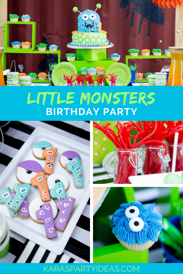Little Monsters Birthday Party via Kara's Party Ideas - KarasPartyIdeas.com