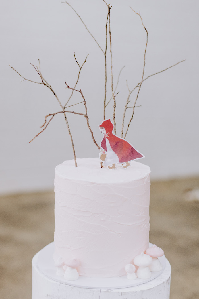 Little Red Riding Hood Twig Cake from a Little Red Riding Hood Birthday Party on Kara's Party Ideas | KarasPartyIdeas.com (30)