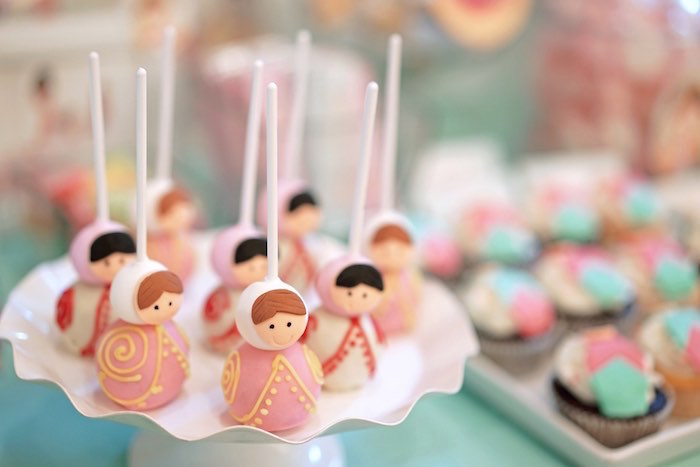 Matryoshka Doll Cake Pops from a Matryoshka Russian Doll Birthday Party on Kara's Party Ideas | KarasPartyIdeas.com (16)