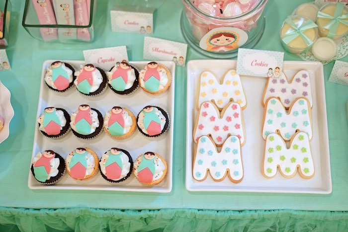 Matryoshka Doll Cupcakes & Letter Cookies from a Matryoshka Russian Doll Birthday Party on Kara's Party Ideas | KarasPartyIdeas.com (15)