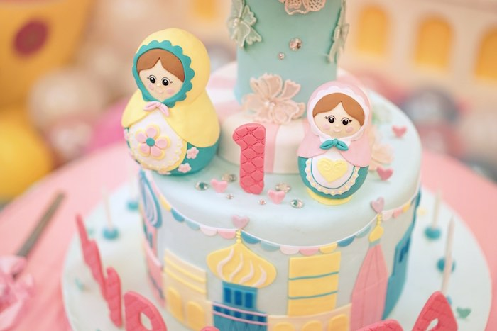 Matryoshka Doll Cake from a Matryoshka Russian Doll Birthday Party on Kara's Party Ideas | KarasPartyIdeas.com (14)