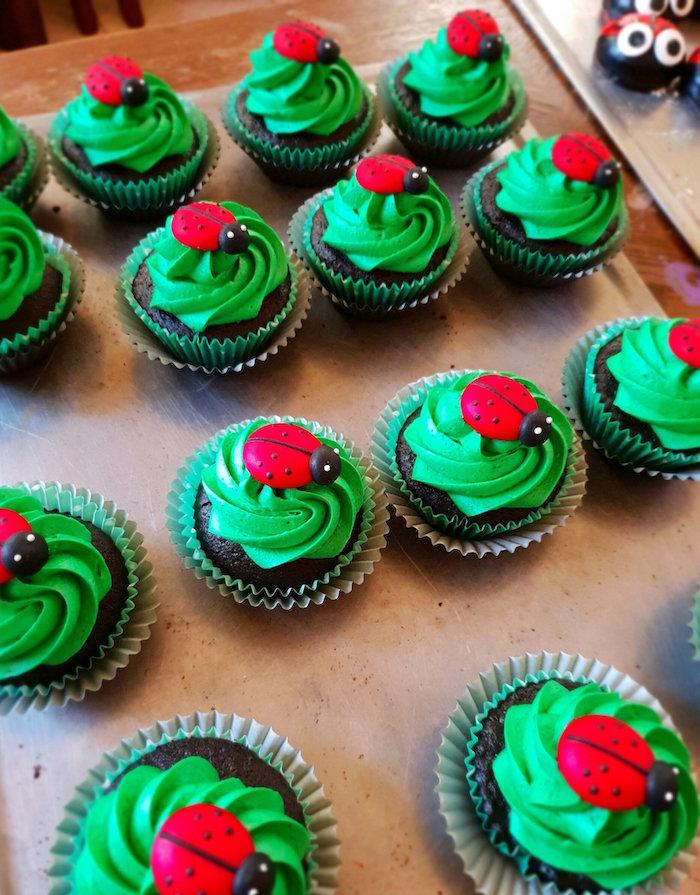 Ladybug Cupcakes from a Miraculous Ladybug Birthday Party on Kara's Party Ideas | KarasPartyIdeas.com (13)
