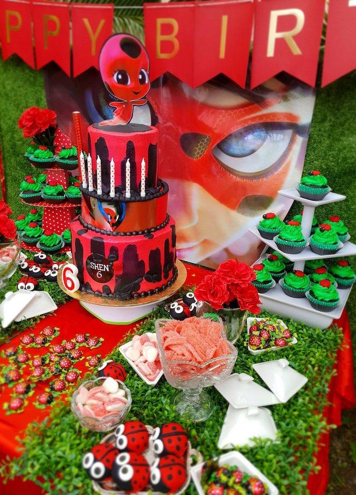Ladybug Party + Dessert Table from a Miraculous Ladybug Birthday Party on Kara's Party Ideas | KarasPartyIdeas.com (11)