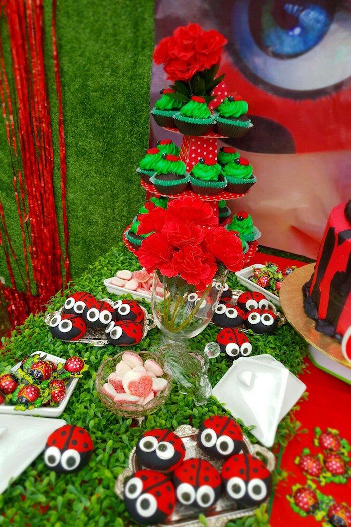 Ladybug Party + Dessert Table from a Miraculous Ladybug Birthday Party on Kara's Party Ideas | KarasPartyIdeas.com (10)